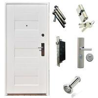 Tür Arktika Außentür Eingangstür Weiß Stahl 880x2050mm 950 x 2050mm