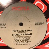 """Sharon Brown I Specialize In Love Vinyl Record 12"""" Original Pressing 1982 House"""