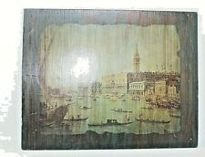 Vintage Picture On The Wood Venice Italy