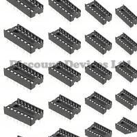 10x  DIL-16/DIP-16 16P 16 Pin IC Socket PCB Solder Type IC Socket