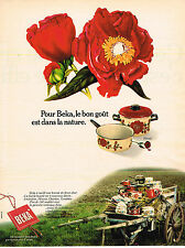 PUBLICITE ADVERTISING 014   1975   BEKA   casseroles ustensils de cuisine