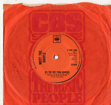 """Mott The Hoople All The Way From Memphis 7"""" Single 1973"""