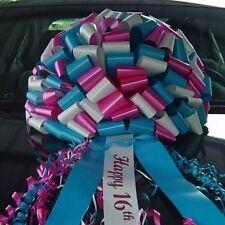NEW Happy Sweet 16th Birthday CAR BOW - USA MADE RIBBON BOWS w/ FREE PRINT