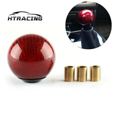 Carbon Fiber Car Gear Shift Knob Head Shifter Lever Round Ball Shape Universal B