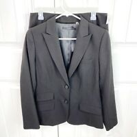 Tahari Petite Women's Brown Blazer Jacket Pencil Skirt Suit 2pc Set Size 10P NWT