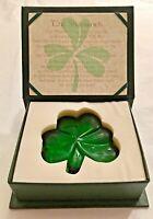 Irish Blessings Decorative Stone Shamrock in Box with Poem