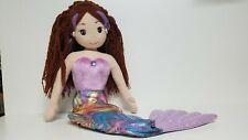 "Aurora Sea Sparkles Merissa Mermaid Doll Plush Stuffed Toy Brown Hair 38"" JUMBO"