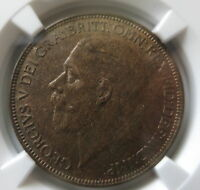 GREAT BRITAIN UK England 1 penny 1927 NGC MS 63 BN UNC
