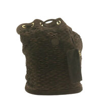 FENDI Suede Shoulder Bag Brown Auth ar3553