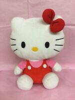"Large Ty Hello Kitty Soft Plush Toy 13"" Tall Preowned"