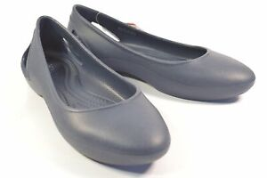 Crocs Laura Flat Navy Standard Fit 204014-410 US8 Ladies Flat Shoes