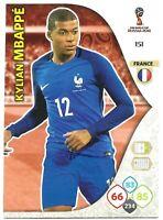 PANINI ADRENALYN XL WORLD CUP 2018 KYLIAN MBAPPE BASE CARD NO 151