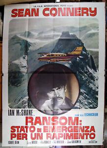 manifesto 4F film RANSOM Sean Connery Ian McShane 1974