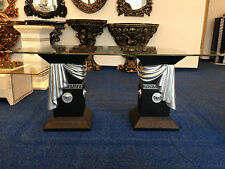 Couchtisch Glastisch Säulen griechische Tische medusa Barock Stuckgips 10/34 B-S