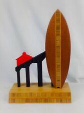 Huntington Beach Pier Wood Surfboard Trophy by Dave C Reynolds