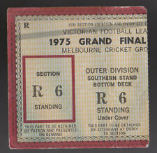 1975 Grand Final Used Ticket North Melbourne vs Hawthorn Kangaroos won