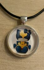 ** Hello Kitty WOLVERINE ** Glass Pendant with Leather Necklace
