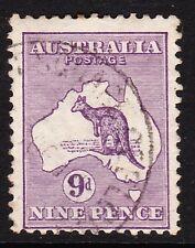 AUSTRALIA 1913-14 9d VIOLET DIE II SG 10 GOOD-FINE USED.