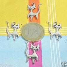 30 Colgantes Gatos 23mm T220X Plata Tibetana Charm Pendant Bracelet Cats Gatti