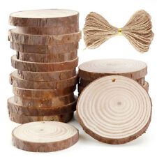 20 Pieces 6-7cm Unfinished Predrilled Wood Slices Round Log Discs With 33 Feet w