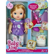 New Baby Alive Brushy Brushy Doll Blonde With Toothbrush Drinks & Wets