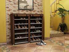 6 Tier 36pair Portable Shelf Shoe Storage Organizer with Dust-proof Water-proof
