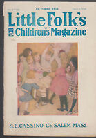 Little Folks Monthly Magazine October 1913 Kids Playing Cover