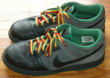 61d13ae5 Vintage Nike Anthracite Pine Green Rasta Jamaica Basketball Shoes Size 9  2007