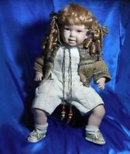 Collectible Show Stoppers Hand Painted Porcelain Doll PAMMY w Chair, F. MARANUK