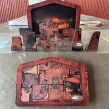 Krippe Puzzle mit Holz gebrannt Design Holz Jesus Puzzle Spiel Krippe Set