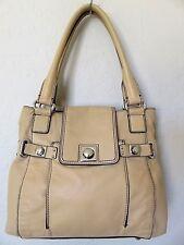 Banana Republic Satchel Tote Bag Tan Leather Handbag