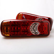 2 x 24V LED Rear Tail Lights Lamps Truck Trailer Tipper Lorry Chassis Wagon
