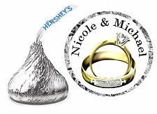 216 Wedding Party Favors Hershey Kiss Kisses Labels ~ Wedding Rings