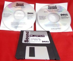 Sound Blaster Live! Digital 1024 Software Install CDs for Dell + Diagnostic Disk