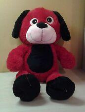 "Large 21"" Red Black Puppy Dog Plush stuffed animal toy boys girls"