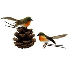 10* Craft Feather Robin Bird Tree Decoration Cute Artificial Christmas Gifts Hot