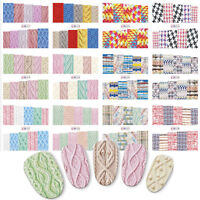Nail Art Water Decals Stickers Transfers Wraps Knitted Knitting Sweater Effect