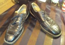 Men's Vintage Giorgio Brutini Black Alligator Leather Oxford Dress Shoes sz 12D