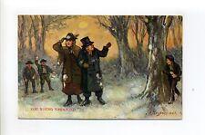 Antique postcard, You Young Vagabond, children throwing snowballs, Hildesheimer