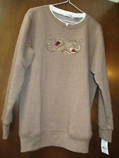 Ladies Hasting & Smith Brown Embellished Sweatshirt Size Small NWT