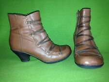 Brown Miz Mooz Claudia Ankle Boots 6 36