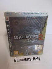 UNCHARTED 2 SPECIAL STEELBOOK EDITION - SONY PS3 - NUOVO NEW