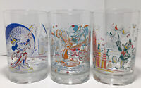 Set of 3 McDonalds Walt Disney World Remember The Magic 25th Anniversary Glasses