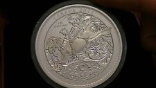 2012 Proof $50 5 oz .9999 Silver Maple Leaf 100th Ann Calgary Stampede box/coa