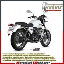 Mivv Exhaust Mufflers Ghibli Black for Moto Guzzi V7 Classic Special 2008 > 2016