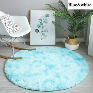 Tie-dyed Gradient Plush Carpet Faux Fur Area Rugs Floor Mat For Bedroom Home New