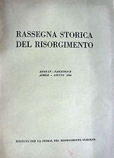 RASSEGNA STORICA DEL RISORGIMENTO ANNO LV FASCICOLO II APRILE-GIUGNO 1968