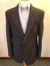 Mens Jos A Bank Red Label Charcoal Birdseye Tweed Two-Button Sport Coat-40L