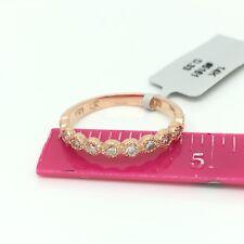 14k Rose Gold Natural Diamond Ring Band