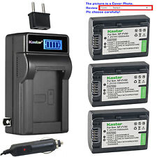 Kastar Battery LCD AC Charger for Sony NP-FV50 Sony HDR-PJ230 HDR-PJ260 HDR-PJ26